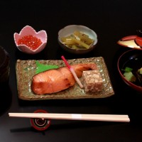 越後村上うおやの「塩引鮭定食」